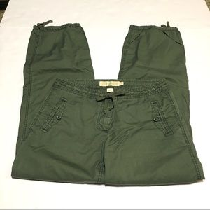 J. Crew City Fit Olive Green Cotton Twill Joggers
